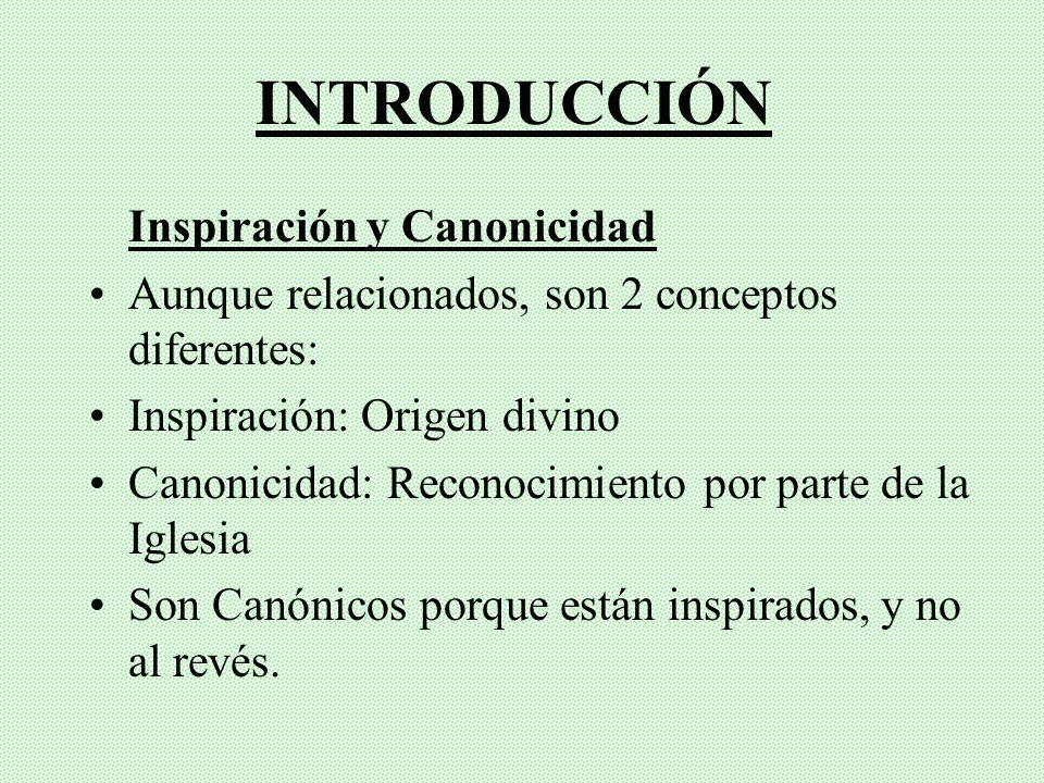 CONTENIDO Introducción Historia del Canon del AT Entre Hebreos Entre Cristianos Historia del Canon del NT Formación (I-II) Definición (III-V; XVI)