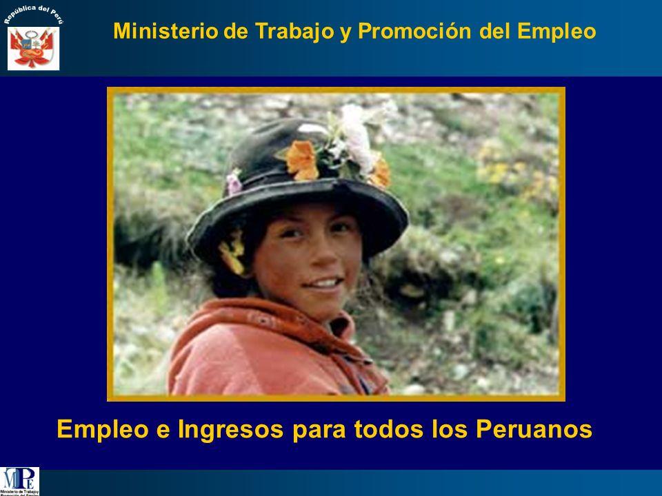 Perú: PEA Ocupada según segmentos laborales, 2005 1/.