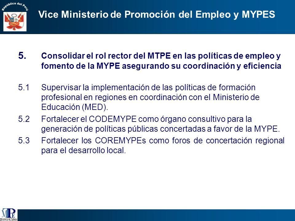Programas o proyectos en los que el empleo es la variable de articulación i.Cuyo objetivo principal es la generación de empleo:. MTPE: Construyendo Pe