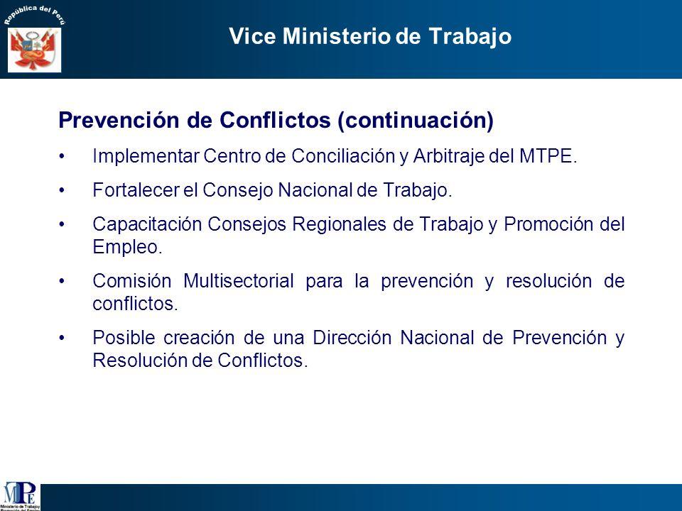 Vice Ministerio de Trabajo 1.Estrategia de Prevención de Conflictos Laborales Sistematización y análisis de la información de quejas y diferencias rec