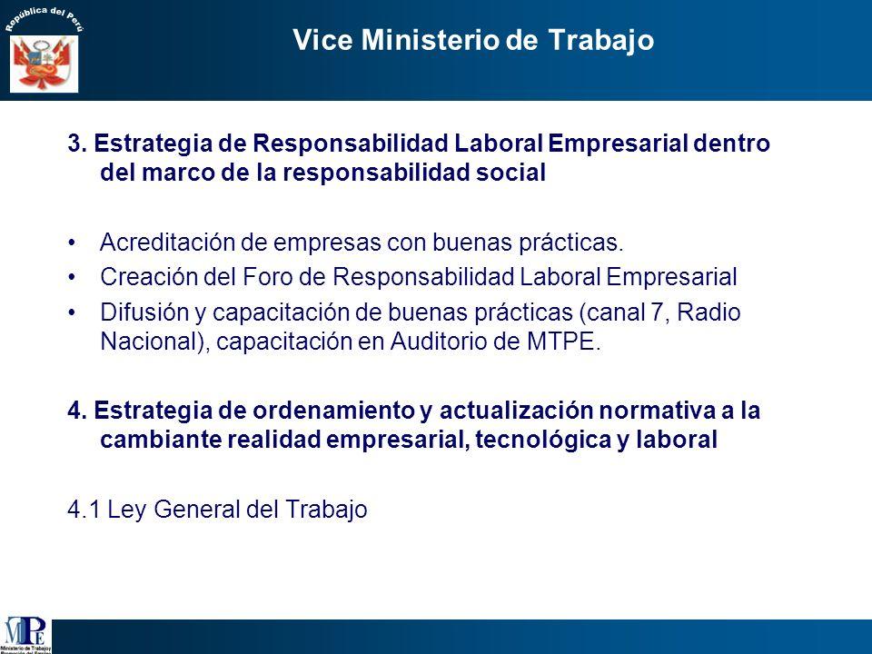 Vice Ministerio de Trabajo 2.1Acciones sancionadoras de malas prácticas laborales Sacar del anonimato a los infractores y visibilizar las reales práct