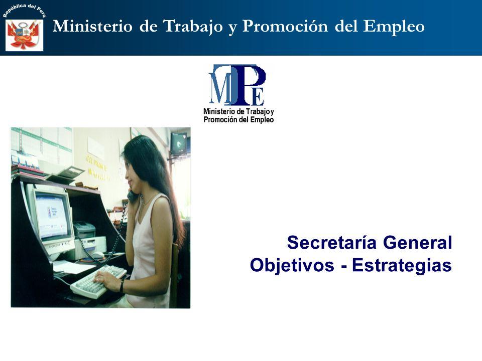 Vice Ministerio de Trabajo Para fortalecer la rectoría del Sector se requiere contar con direcciones competentes en: Responsabilidad Laboral empresari