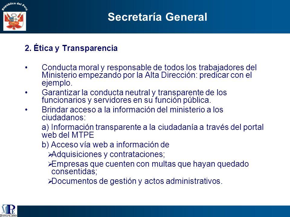 1.Austeridad Mejorar la calidad del gasto público del sector, optimizando el uso de los recursos del MTPE. Priorizar adquisiciones y contrataciones in
