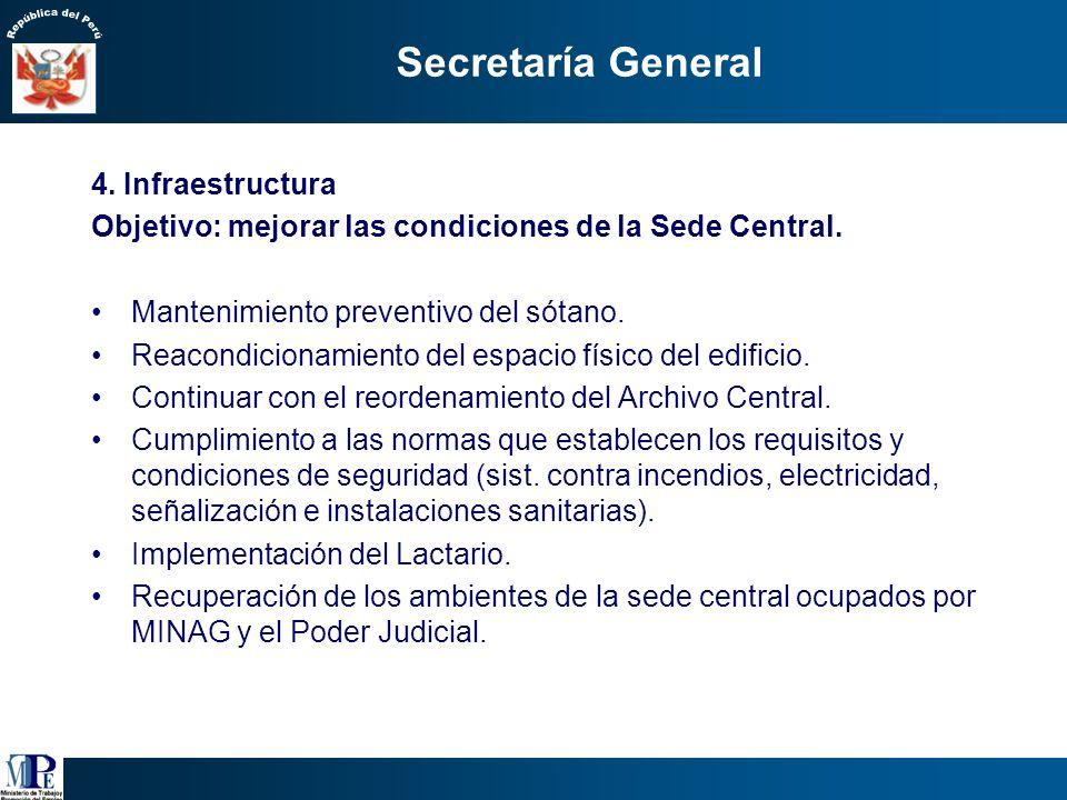 Secretaría General Simplificar los trámites administrativos que deben llevar a cabo los usuarios, así como los procesos que se dan al interior de la e