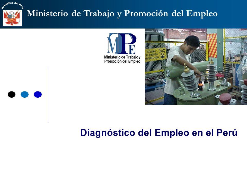 Ministerio de Trabajo y Promoción del Empleo Ministerio Secretaría General (Administración) Vice Ministerio de Trabajo (8% PEA: empleo dependiente) Vi