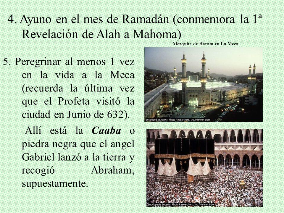 II. ENSEÑANZAS DEL ISLAM -Islam: Sometimiento -Cinco pilares: 1.Profesión de fe: No hay más Alah (Dios) que Alah y Mahoma es su Profeta. 2. Recitación