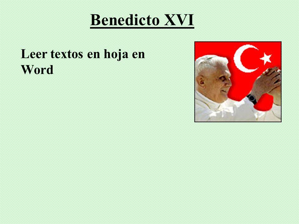 Leer textos en hoja en Word. Juan Pablo II (Cruzando Umbral de la esperanza, 1994)