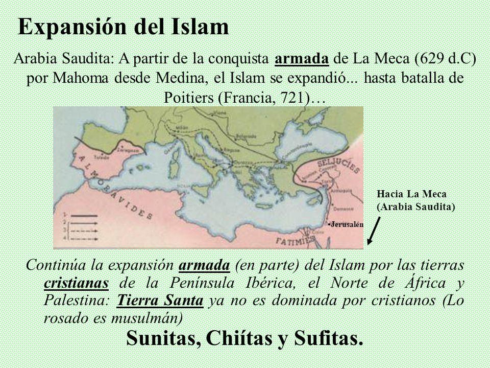La Hégira (622 d.C) Mahoma predica, no le comprenden muchos, huye a Medina (Hégira, 622) regresa y somete la Meca… Se casó unas 8 veces más.