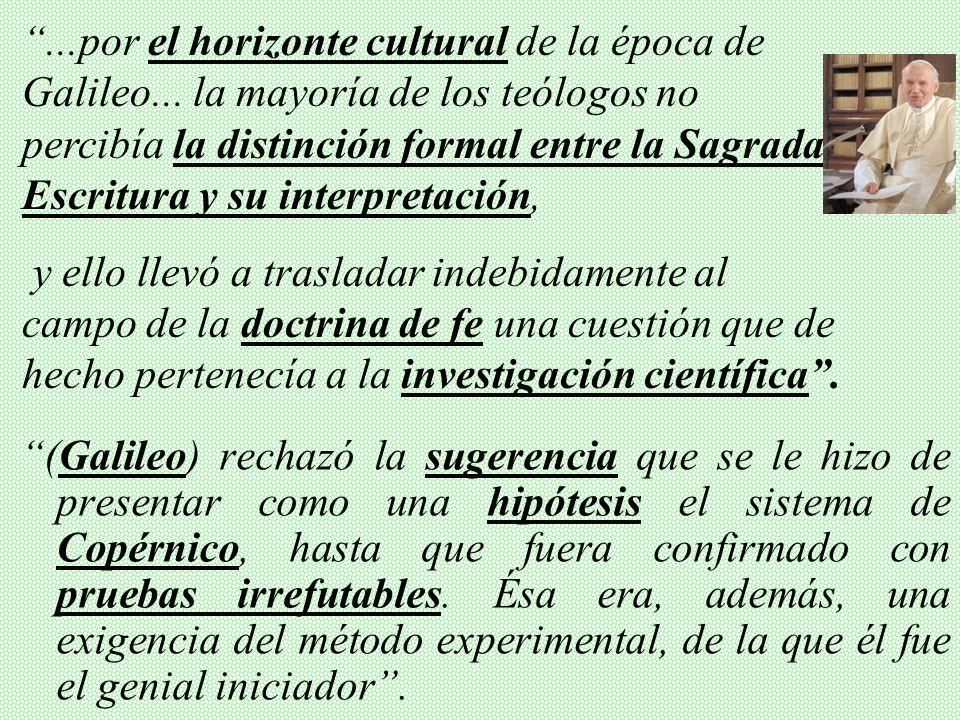 - 4 Secciones (Teológica, Histórica, Científica y Exegética…) presidida por el Card. Paul Poupard. -1992 (31-Oct-1992): Resultados de la Comisión se p