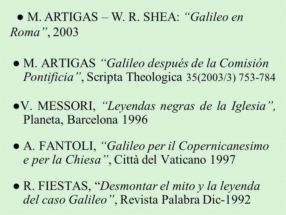 Gran Enciclopedia Rialp (GER): Galileo, Ptolomeo, Astronomía Wikipedia / Enc. Encarta, Galileo W. BRANDMULLER, Galileo y la Iglesia, Rialp, Madrid 197