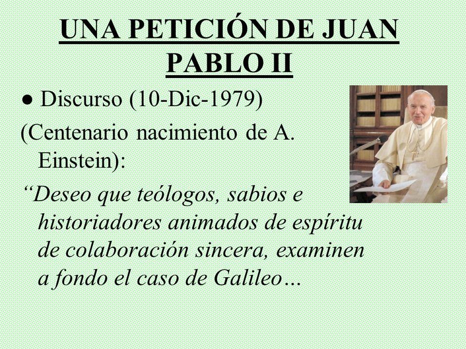 CONTENIDO Una petición de Juan Pablo II I. Teoría del Geocentrismo II. Copérnico y el Heliocentrismo III. Galileo Galilei y su Proceso IV. Eventos pos