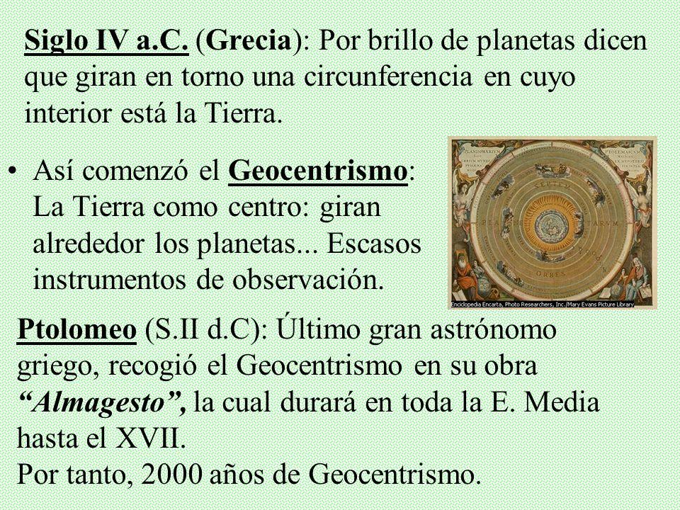 Así comenzó el Geocentrismo: La Tierra como centro: giran alrededor los planetas...