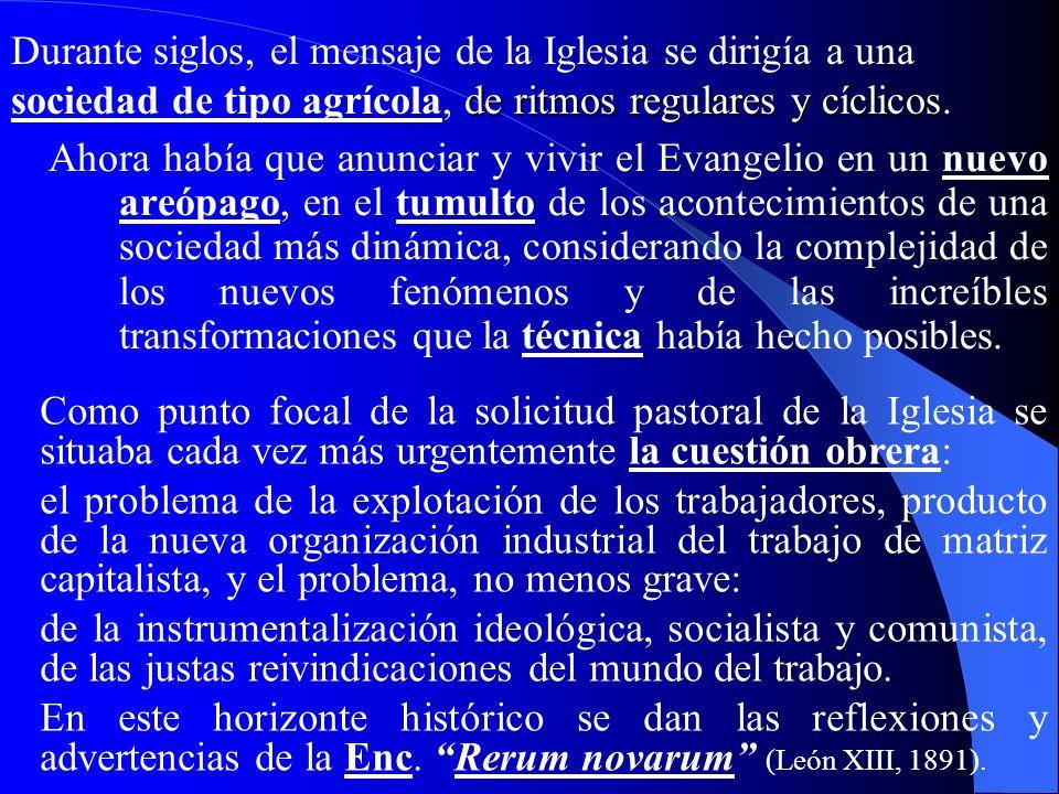 II. El valor profético de la Rerum novarum II. El valor profético de la Rerum novarum (1891) 267… La Revolución industrial planteó a la Iglesia un gra