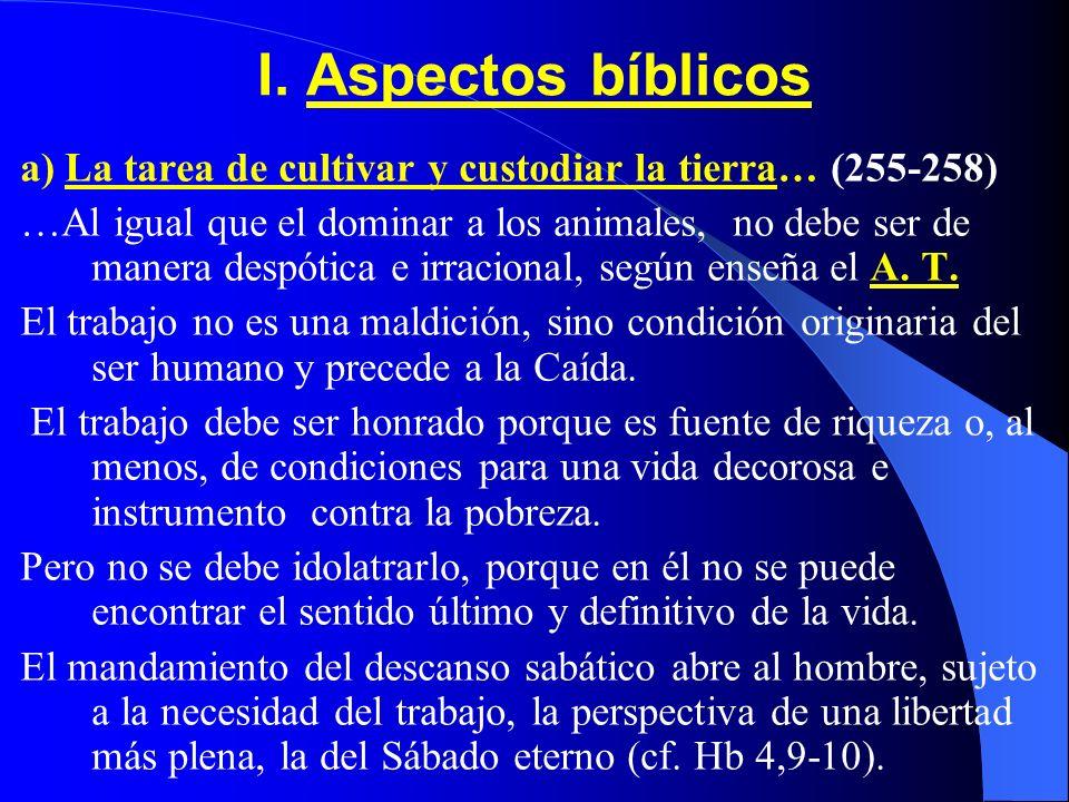 CONTENIDO I.Aspectos Bíblicos II. Valor profético de Rerum novarum (1891) III. La dignidad del trabajo IV. El derecho al trabajo (1ª parte)