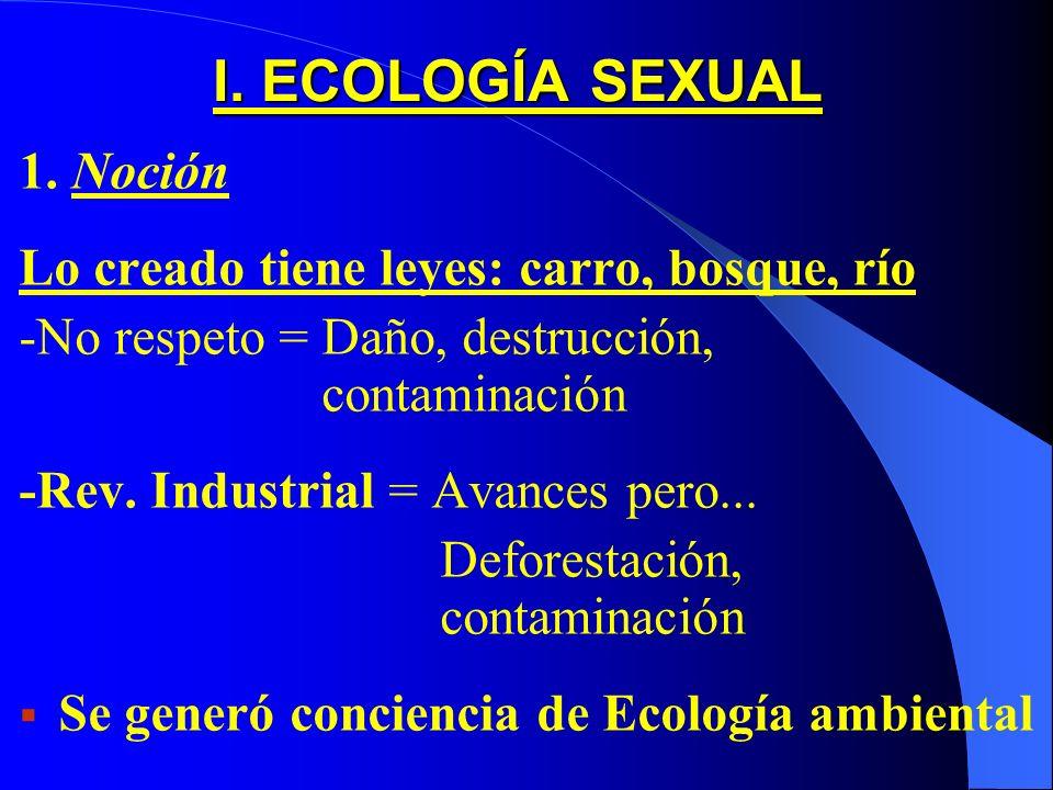 I.ECOLOGÍA SEXUAL 1.