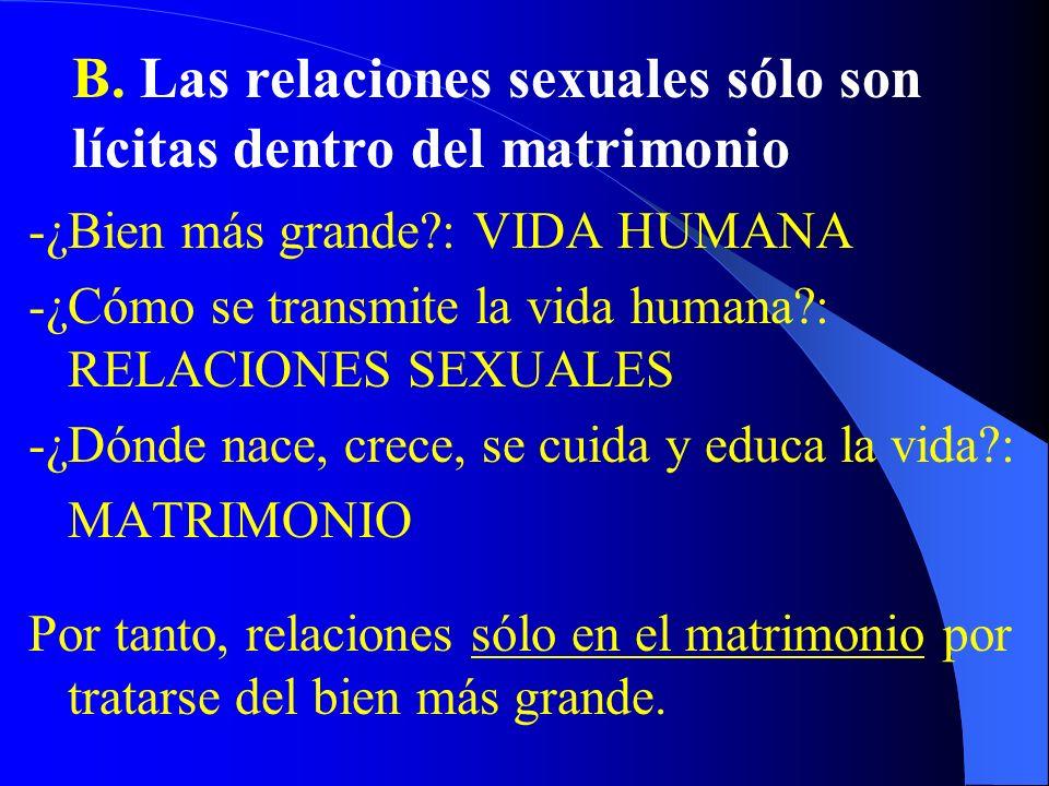 VIDA HUMANA ConservarlaTransmitirla Comida Sexualidad Placer Gula Masturbación, anticoncepción, fornicación Actos homosexuales
