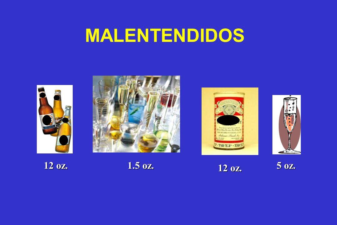 MALENTENDIDOS 12 oz. 5 oz. 12 oz. 1.5 oz.