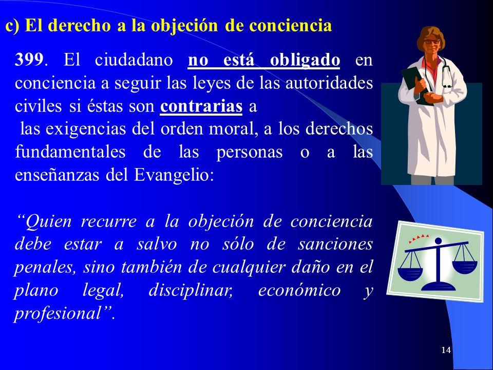 13 398. La autoridad debe emitir leyes justas, es decir, conformes a la dignidad de la persona humana y a los dictámenes de la recta razón: Cuando por