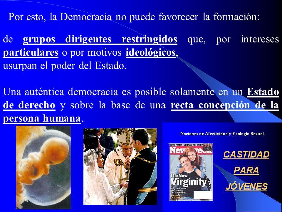 20 IV. El sistema de la Democracia IV. El sistema de la Democracia 406. Enc. Centesimus annus (1991): La Iglesia aprecia el sistema de la democracia,