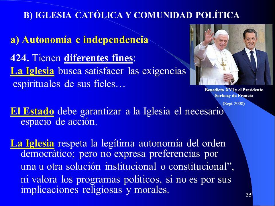 34 421. El Vaticano II ha comprometido a la Iglesia Católica en la promoción de la libertad religiosa, especialmente con la Declaración Dignitatis hum