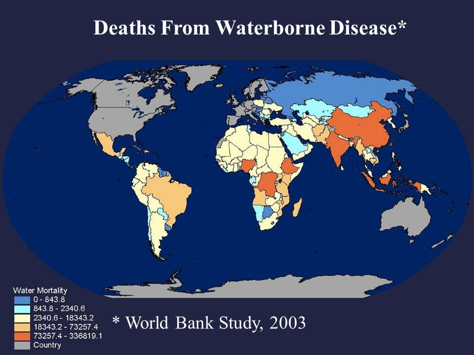 9 Deaths From Waterborne Disease* * World Bank Study, 2003
