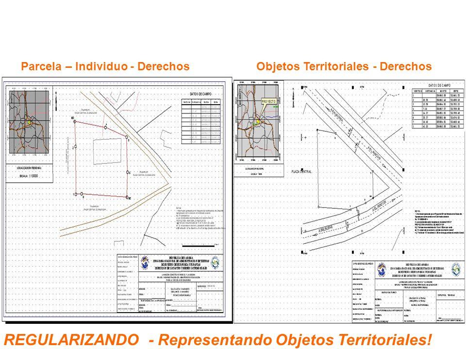 Parcela – Individuo - DerechosObjetos Territoriales - Derechos REGULARIZANDO - Representando Objetos Territoriales!