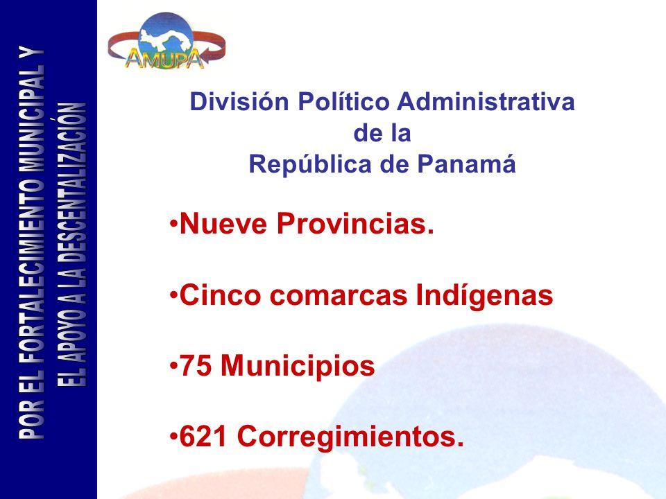 division politica administrativa panama: