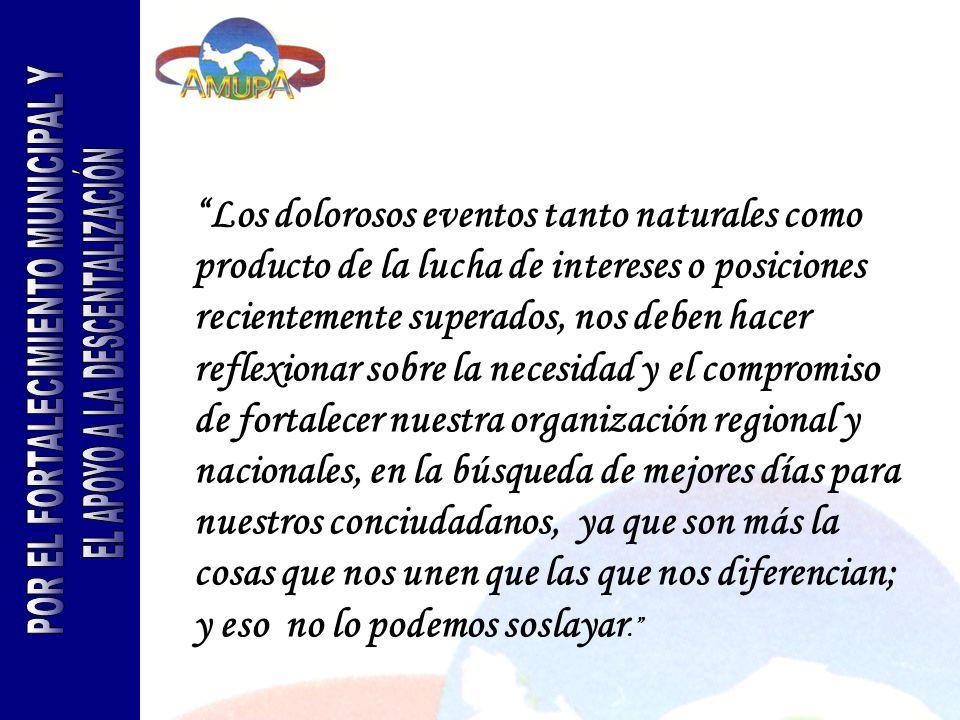 Introducción 2004 fue para la Asociación de Municipios de Panamá un año complejo pero exitoso, ya que se debió enfrentar de cambios que inciden significativamente en el que hacer municipal panameño.