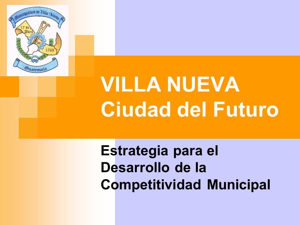 Características Básicas de Villa Nueva Población Total: 355,901 Hombres:171,771 (48.26%) Mujeres:184,130 (51.74%) Urbana:301,947 (84.84%) Rural: 53,954 (15.16%) 7-14 años: 67,004 (18.83%) 15-17 años:22,177 (06.23%) 18-59 años:185,716 (52.18%) Indígena: 27,002 (07.59%) H alfabetas:129,059 (36.26%) M alfabetas:132,694 (37.28%) Económica Activa: 139,550 Hombres:87,189 (62.48%) Mujeres:52,361 (37.52%) Económica Inactiva: 152,333 Hombres:52,245 (34.30%) Mujeres: 100,088 (65.70%) Categoría Ocupacional: 138,968 Patrono: 8,101 (05.83%) Cuenta Propia: 31,605 (22.74%) Emp.