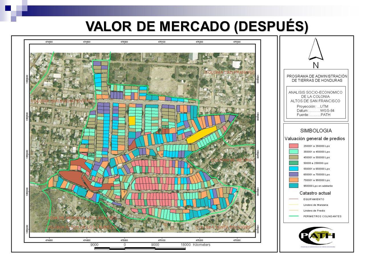 Área total expropiada17,988,124.30 mt2 Cantidad de predios60,157 Valor comercial total de las propiedades en Lempiras19,611,182,000.00 Lps.
