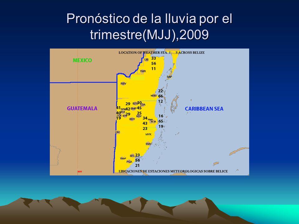 Pronóstico de la lluvia por el trimestre(MJJ),2009