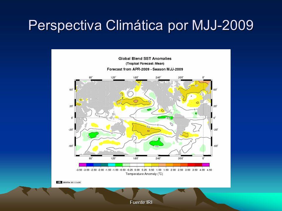 Perspectiva Climática por MJJ-2009 Fuente:IRI