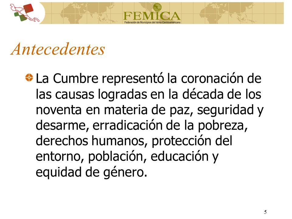 76 Manejo de Servicios Ambientales para Poblaciones Vulnerables en Ciudades de América Central Foro Virtual Opiniones de Expertos en el Area Intercambio de Experiencias Exitosas
