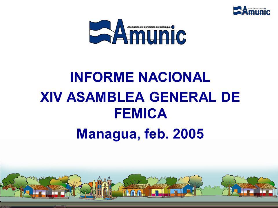 INFORME NACIONAL XIV ASAMBLEA GENERAL DE FEMICA Managua, feb. 2005