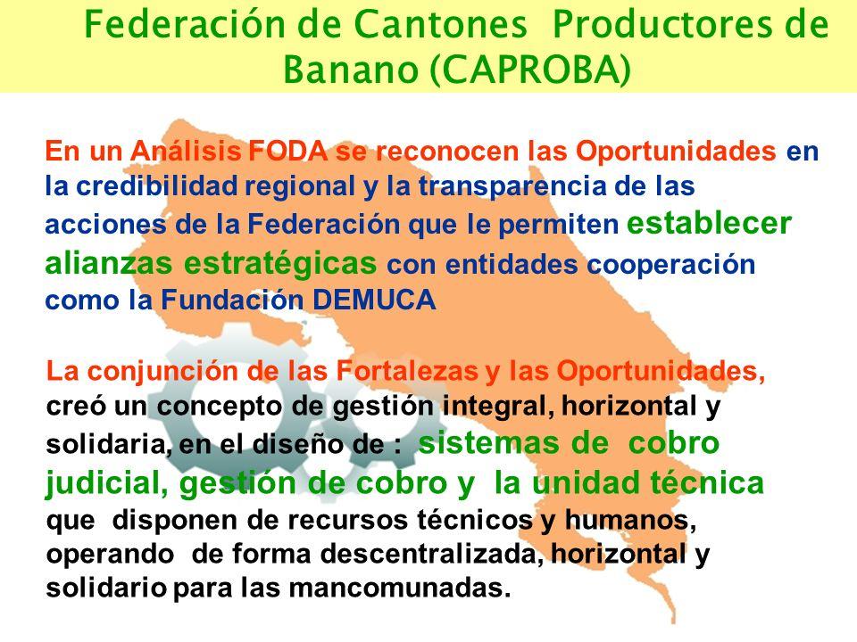 Salud Medio Ambiente Capacitacion Recursos Naturales Federación de Cantones Productores de Banano (CAPROBA) En un Análisis FODA se reconocen las Oport
