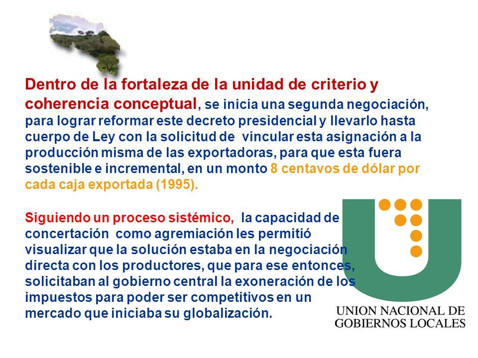 Dentro de la fortaleza de la unidad de criterio y coherencia conceptual, se inicia una segunda negociación, para lograr reformar este decreto presiden