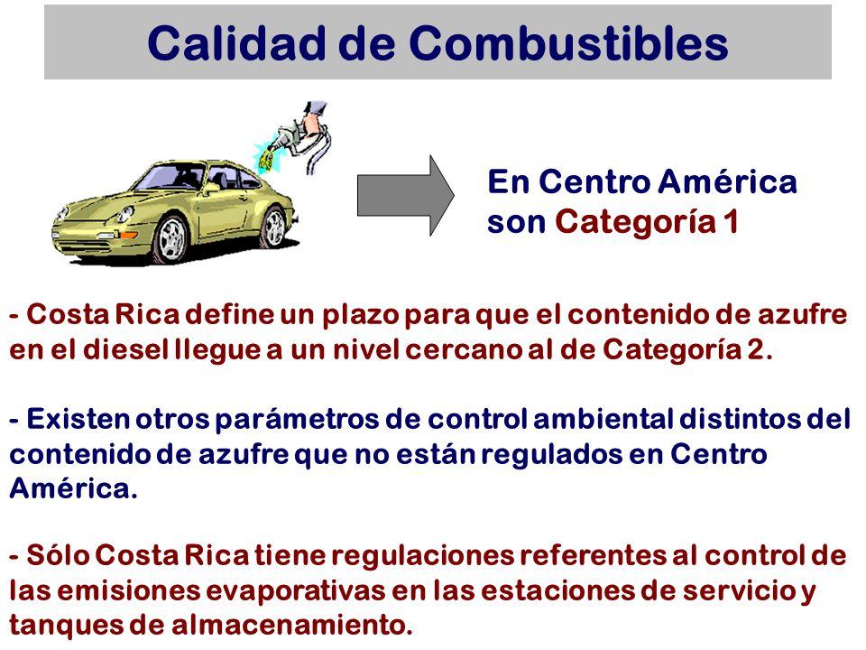 Calidad de Combustibles - Costa Rica define un plazo para que el contenido de azufre en el diesel llegue a un nivel cercano al de Categoría 2. - Exist