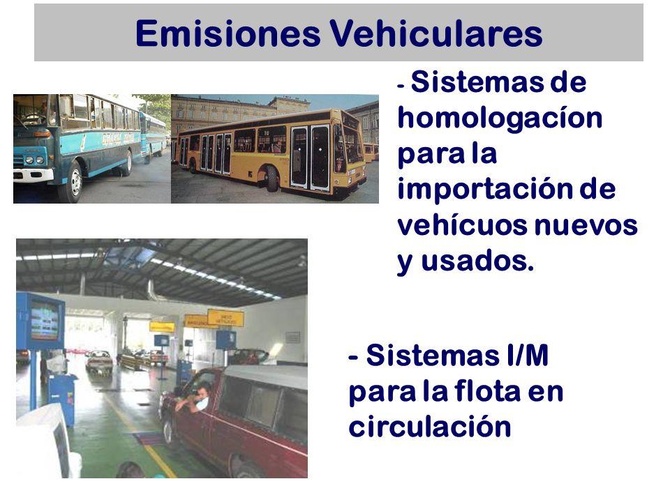 Emisiones Vehiculares - Con excepción de Guatemala, todos los países cuentan con regulaciones para implementar un sistema I/M.