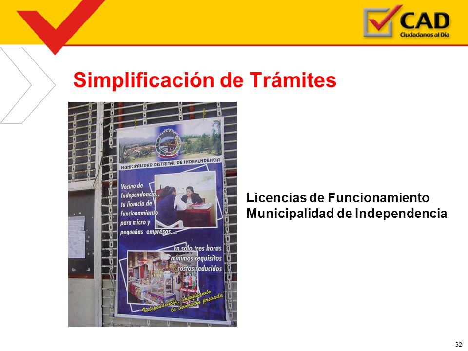 32 Simplificación de Trámites Licencias de Funcionamiento Municipalidad de Independencia
