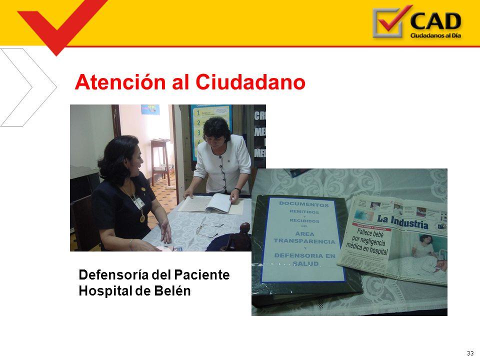 33 Atención al Ciudadano Defensoría del Paciente Hospital de Belén