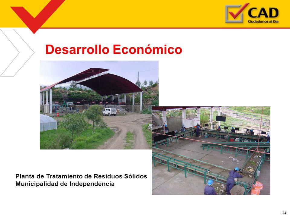 34 Desarrollo Económico Planta de Tratamiento de Residuos Sólidos Municipalidad de Independencia