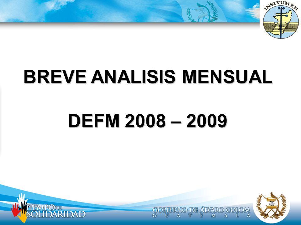 BREVE ANALISIS MENSUAL DEFM 2008 – 2009