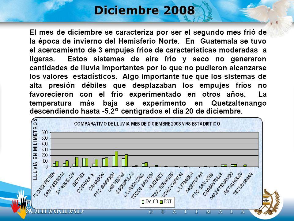 El mes de diciembre se caracteriza por ser el segundo mes frió de la época de invierno del Hemisferio Norte.