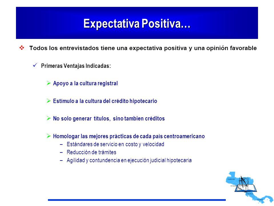 Expectativa Positiva… Todos los entrevistados tiene una expectativa positiva y una opinión favorable Primeras Ventajas Indicadas: Apoyo a la cultura r