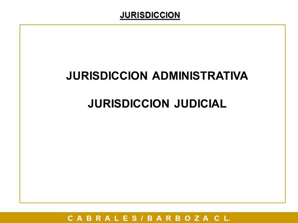 JURISDICCION JURISDICCION ADMINISTRATIVA JURISDICCION JUDICIAL