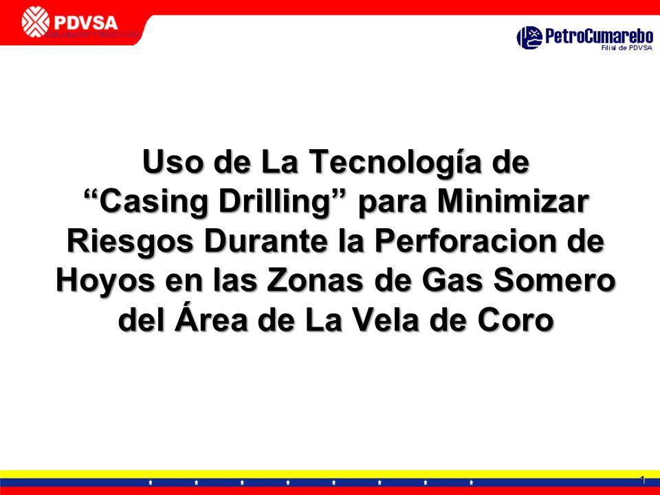 1 GERENCIA DE TECNOLOGÍA APLICADA - DTTO. TIA JUANA EXPLORACIÓN Y PRODUCCIÓN CALENTADORES DE FONDO Uso de La Tecnología de Casing Drilling para Minimi