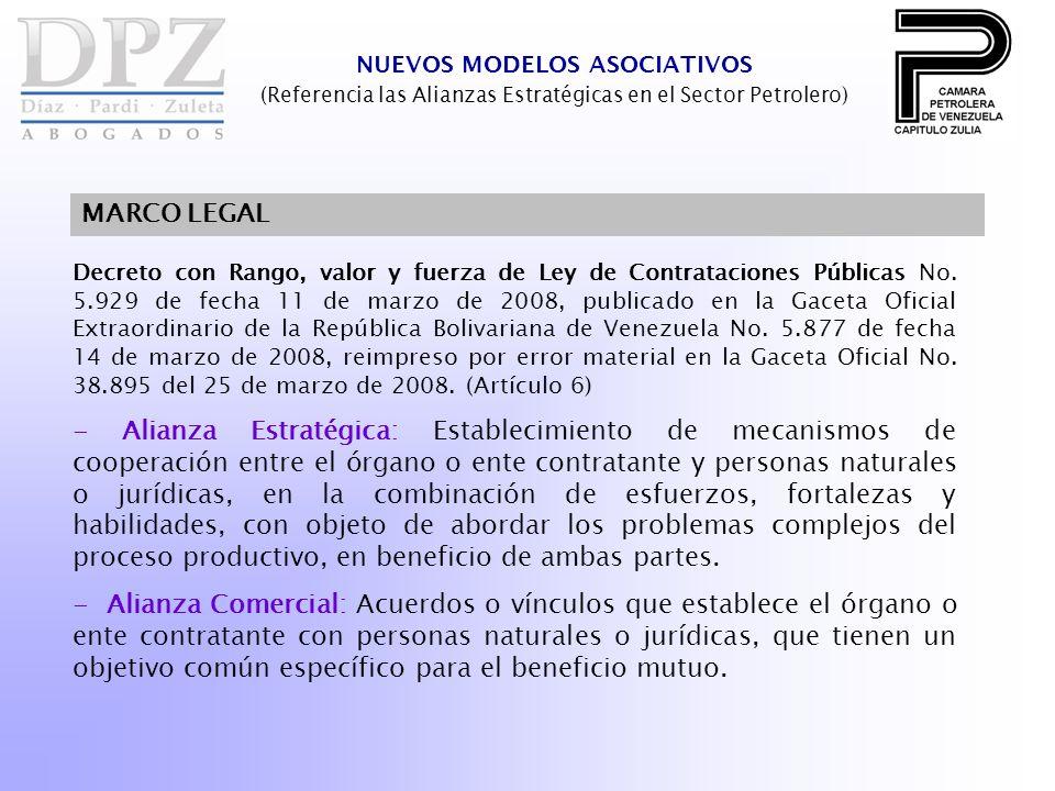 Decreto con Rango, valor y fuerza de Ley de Contrataciones Públicas No. 5.929 de fecha 11 de marzo de 2008, publicado en la Gaceta Oficial Extraordina