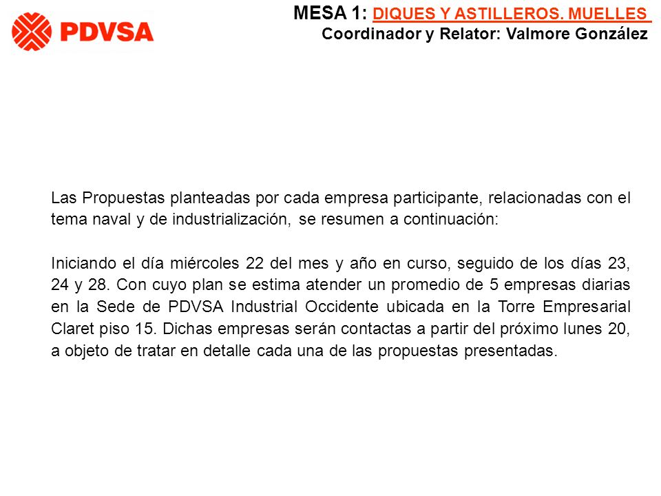 3.- Izamientos de Cargas y desmantelamiento de infraestructuras no operativas en el Lago de Maracaibo.
