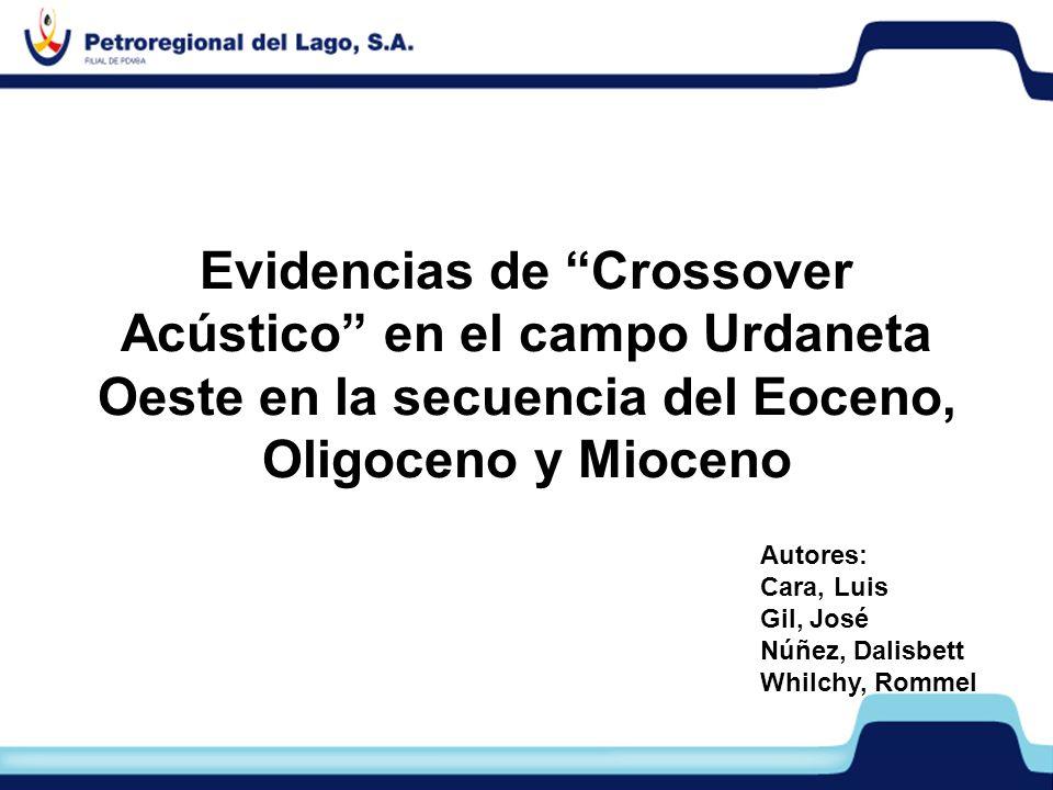 PERLA Evidencias de Crossover Acústico en el campo Urdaneta Oeste en la secuencia del Eoceno, Oligoceno y Mioceno Autores: Cara, Luis Gil, José Núñez,