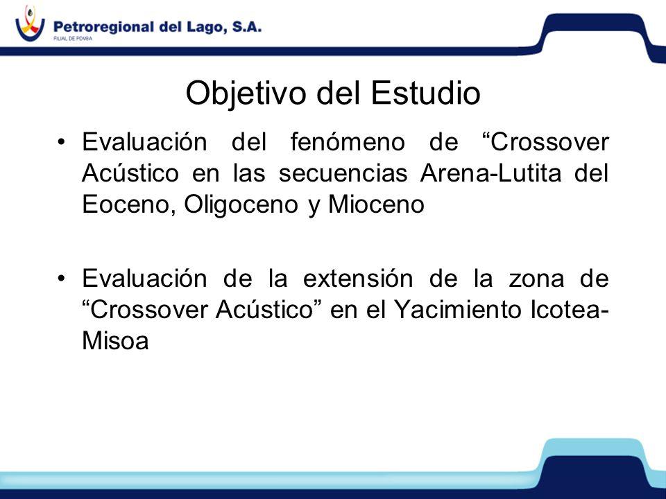 Evaluación del fenómeno de Crossover Acústico en las secuencias Arena-Lutita del Eoceno, Oligoceno y Mioceno Evaluación de la extensión de la zona de